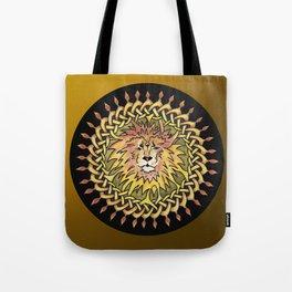 Lion Celtic Knot Mandala Tote Bag