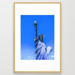 The Statue of Liberty in New York City 2  in infra red Framed Art Print