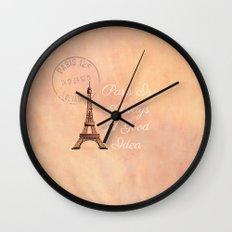 Vintage Paris is Always a Good Idea  Wall Clock