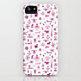 Robots-Pink iPhone Case