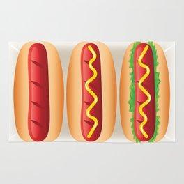 Hot Dog Sandwiches Rug