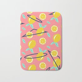Lemons party #society6 #decor #buyart Bath Mat