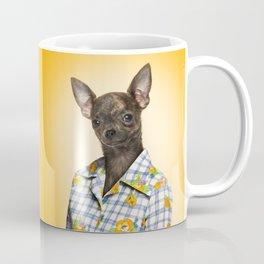 Chihuahua wearing a floral shirt Coffee Mug