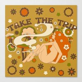 Take The Trip Orange Canvas Print