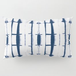 Shibori Stripes 4 Indigo Blue Pillow Sham