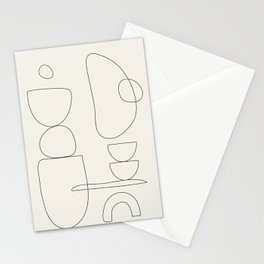 Minimal Abstract Shapes 03 Stationery Cards