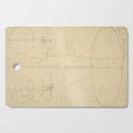 Jérôme Lalande's Astronomie (1771) - Geometric Calculations regarding Planetary Bodies 5 Cutting Board
