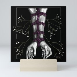 Shibari Arms with Flowers Mini Art Print