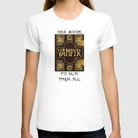 buffy the vampire slayer T-shirts featuring Vampyr Book -- Buffy the Vampire Slayer by BovaArt