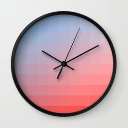 Lumen, Red, White and Blue Glow Wall Clock