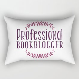 Professional Bookblogger - White w Purple Rectangular Pillow