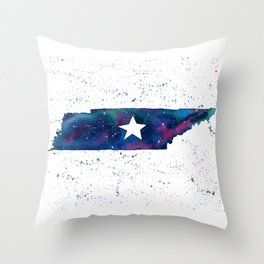 Tennessee Stars / State Painting / Nashville Art / Galaxy Art Throw Pillow