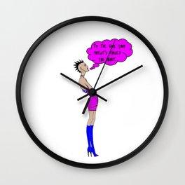 I'm the Girl Punk Rocker Wall Clock