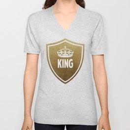 King & Queen (For Him & For Her) Unisex V-Neck