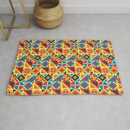 geometry with various shapes Rug