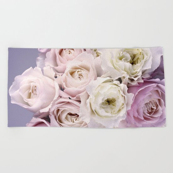 Romantic Roses Beach Towel