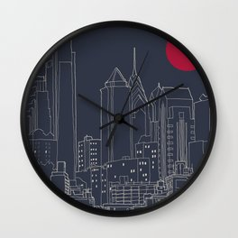 Philly Blueprint Wall Clock