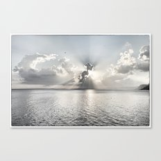 When the sun sets... Canvas Print