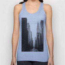 Streets of New York b&w Unisex Tank Top