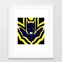 bat Framed Art Prints featuring bat by Nir P