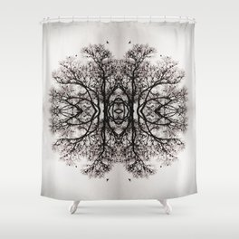 Winter Storm Ink Blot Shower Curtain