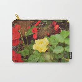 Yellow Rose With Red Geranium Carry-All Pouch