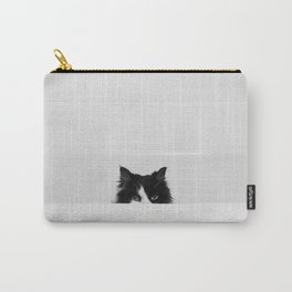Water Please - Black and White Cat in Bathtub Carry-All Pouch