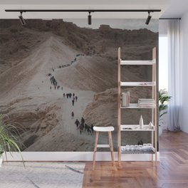 The Hike Up The Masada, Israel at Sunrise Wall Mural