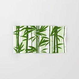 Green bamboo tree shoots pattern Hand & Bath Towel
