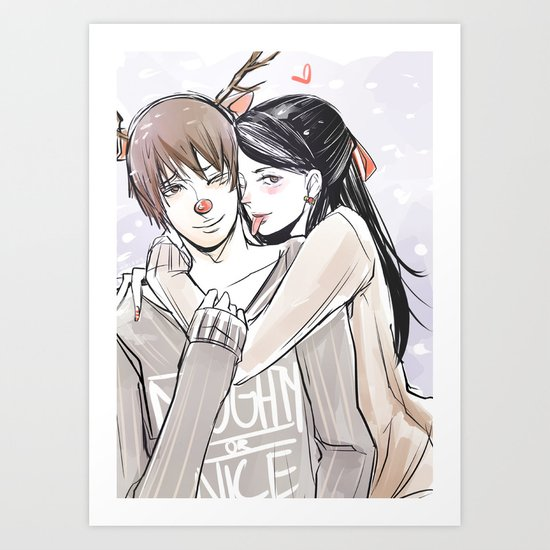 Simon and Isabelle Art Print
