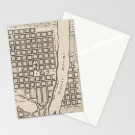 Vintage Map of Santiago Chile (1764) Stationery Cards