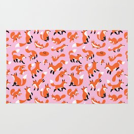 Foxes and Squirrels Rug