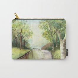 Trees by the canal Carry-All Pouch