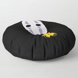 No Face Giving Gold Floor Pillow