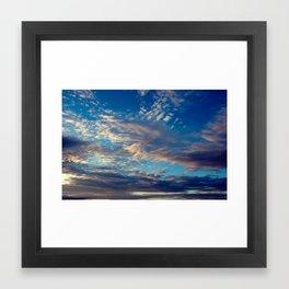 patterns in the sky Framed Art Print