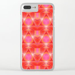 Candy Corn Inspired Pink & Orange Abstract Clear iPhone Case