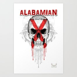 To The Core Collection: Alabama Art Print