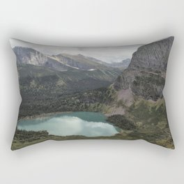 Grinnell Lake from the Trail No. 2 - Glacier NP Rectangular Pillow