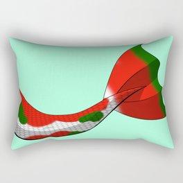 Christmas Koi Mermaid Tail V2 #Holiday #Xmas Rectangular Pillow