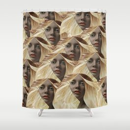Fawcett up your life! Shower Curtain