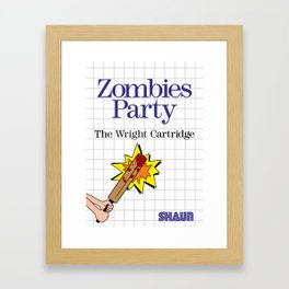 Shaun of the Dead Master System Box Art Framed Art Print