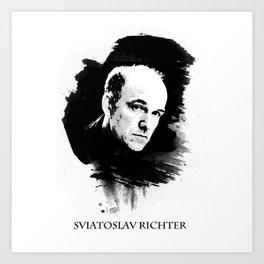 Sviatoslav Richter  Art Print