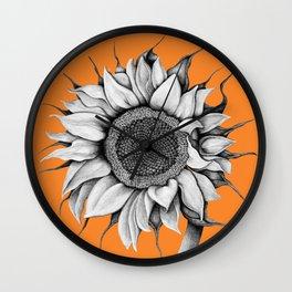 Sunflower orange Wall Clock