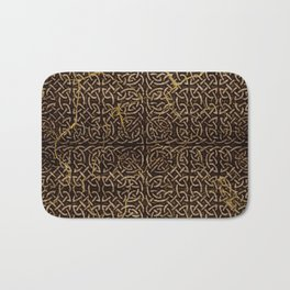 Celtic Wood Pattern with Gold Accents Bath Mat