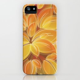 Warm Golden Autumn Flowers iPhone Case