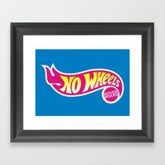 No Wheels Framed Art Print