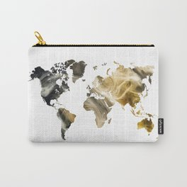 Sandy world map Carry-All Pouch