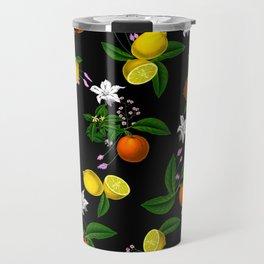 Citrus,floral,oranges,lemons,summer pattern Travel Mug