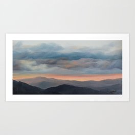 Sunset on the Blue Ridge Parkway Art Print