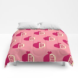 Fruit: Pomegranate Comforters
